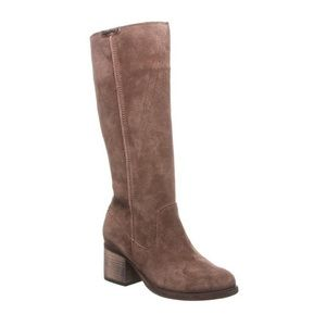 BEARPAW Anthracite Suede Earth Tall Boots SZ 10
